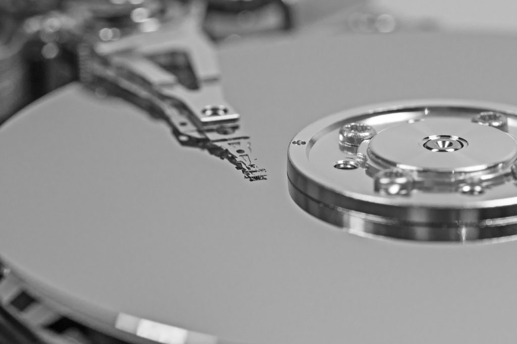 Computer hard drive for data destruction